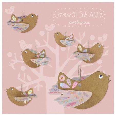 Kit créatif Oiseaux poétiques