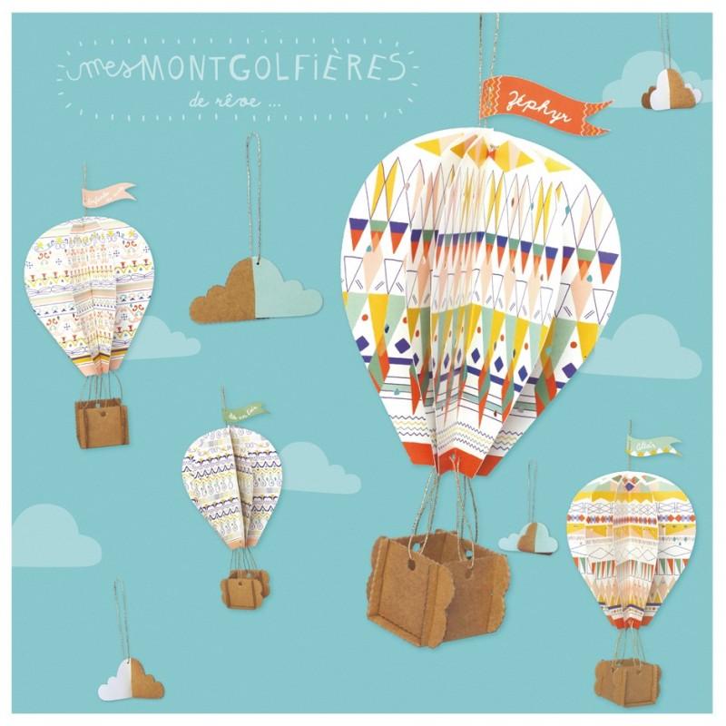 Creative workshop hot-air balloons cardboard
