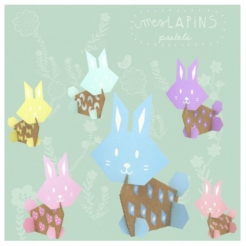 Creative workshop cardboard rabbits