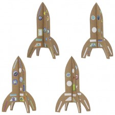fusées en carton recyclé