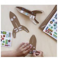 atelier créatif fusées stickers