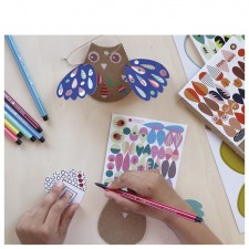 atelier créatif chouettes stickers