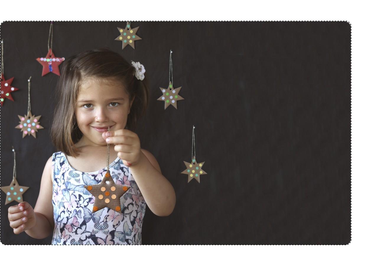 loisir créatif étoiles en carton