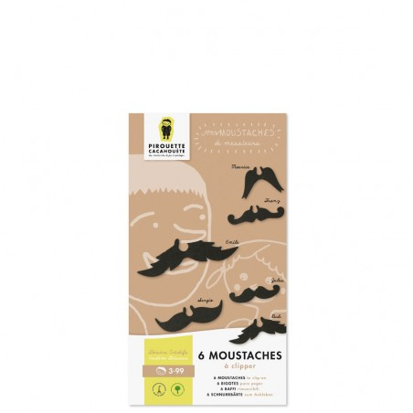 cardboard moustaches