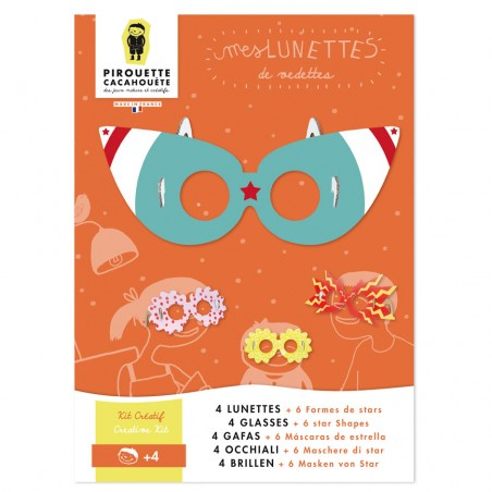 pirouette cacahuete cardboard glasses