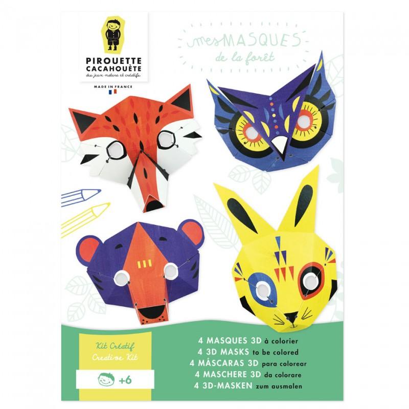 kit créatif masques animaux de la forêt
