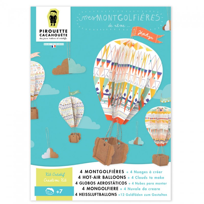 mobile hot-air balloons paper