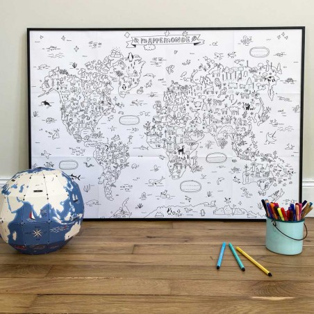 world map to colore