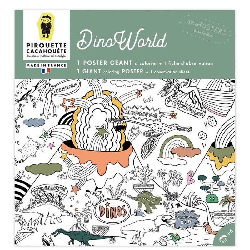 Poster à colorier dinosaures