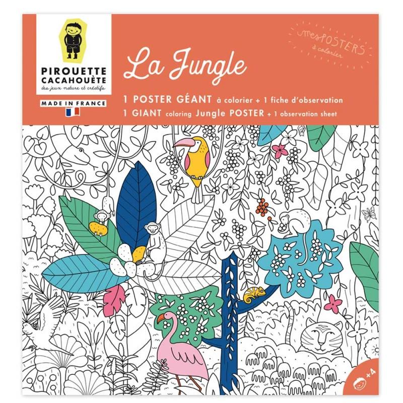 Poster à colorier jungle