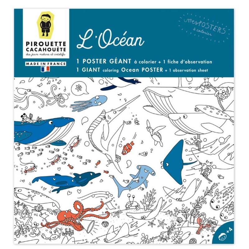 Poster à colorier océan