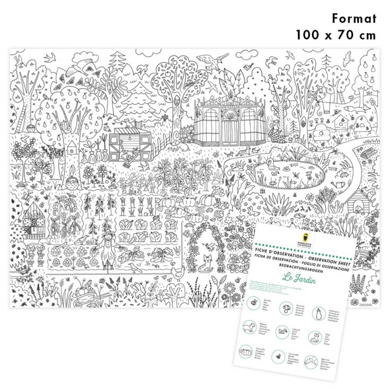 vegetable garden giant poster to colore