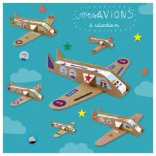 atelier créatif avions carton
