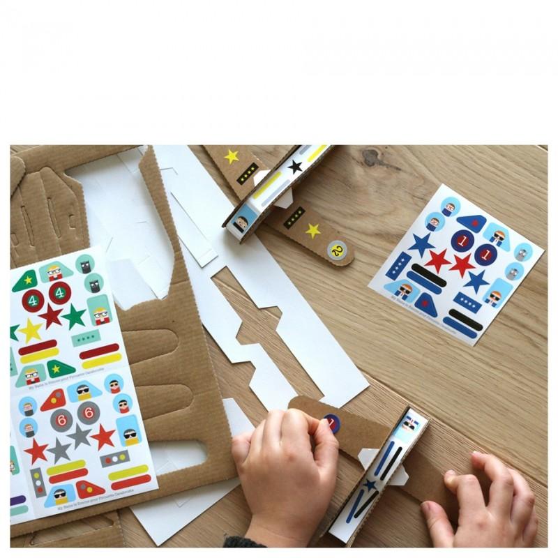 Creative workshop planes stickers