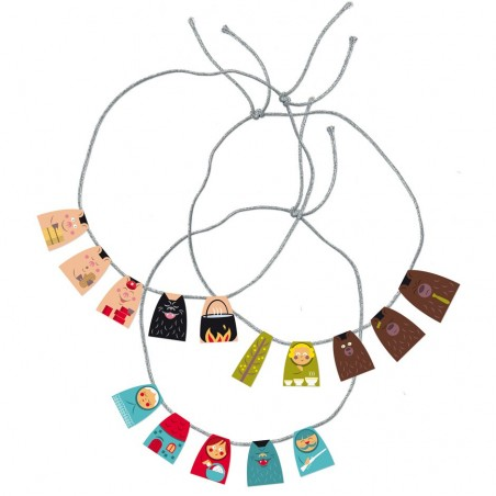 Paper necklaces for children stories tales