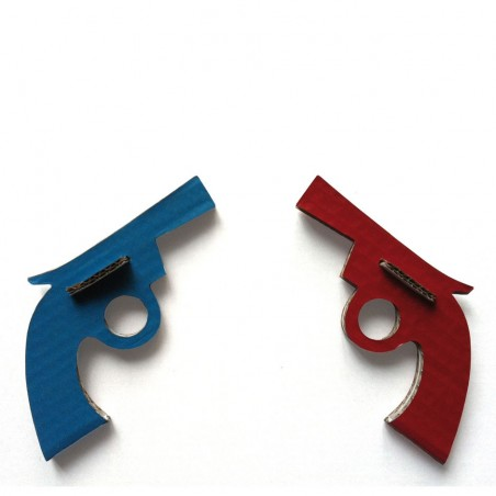 Cardboard pistols recycled made in France