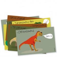 invitations fête tyrannosaure