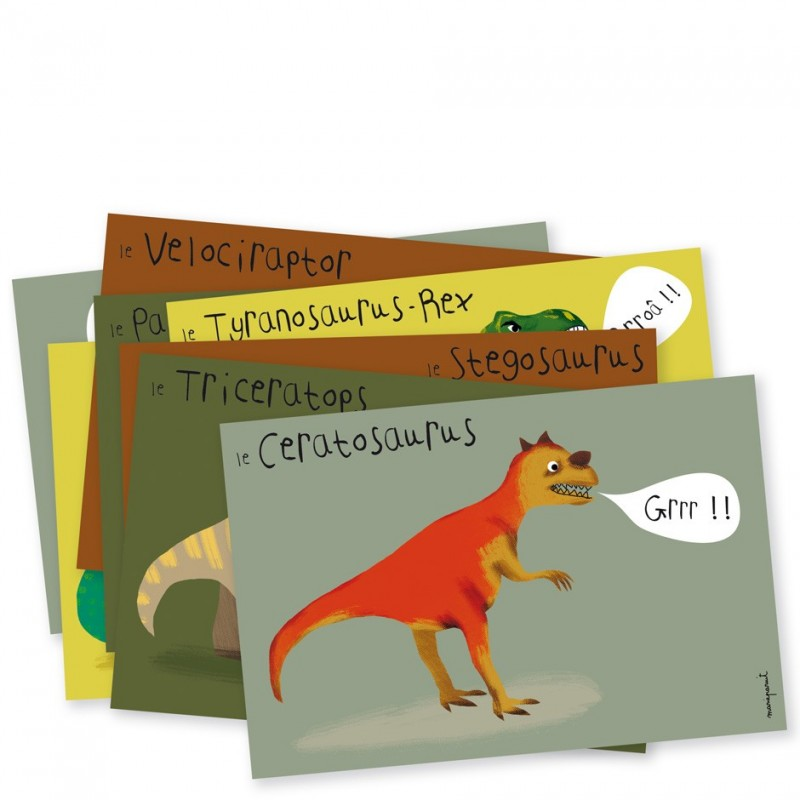 Invitations celebrate tyrannosaur