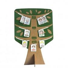 arbre généalogique en carton recyclé