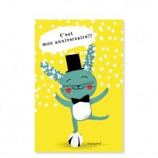 carte d'invitation lapin magicien