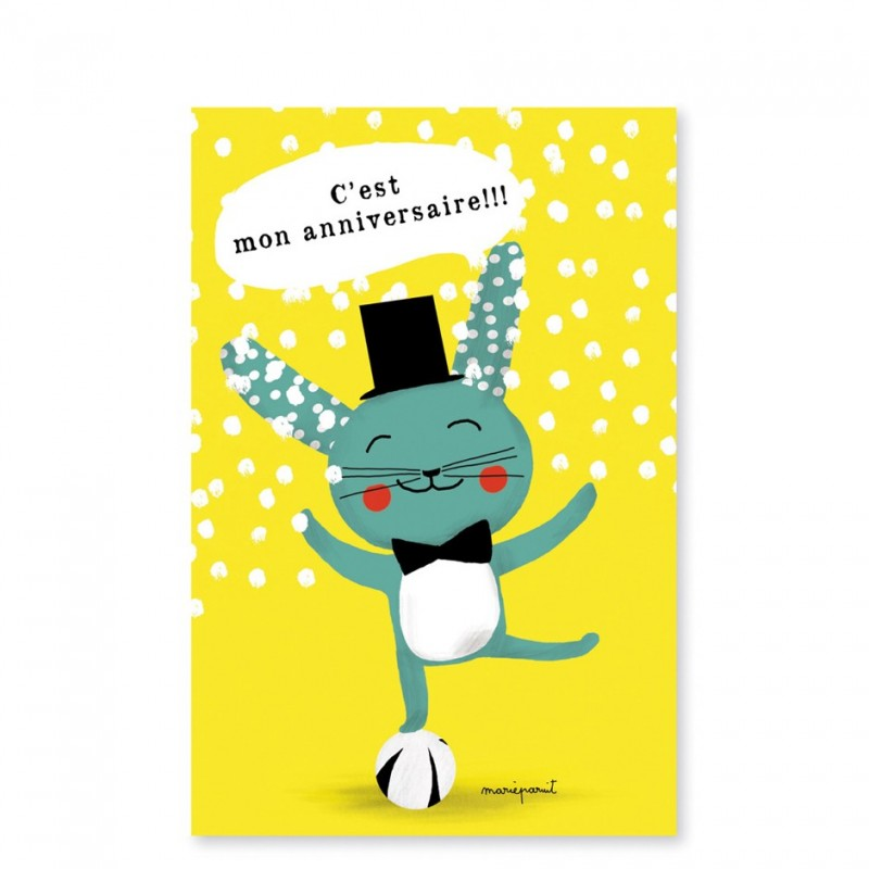 Invitation card rabbit magician