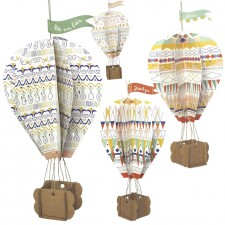 hanging cardboard hot-air balloon