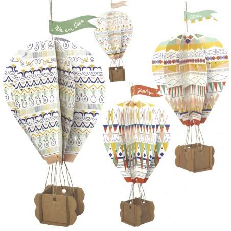 montgolfière carton à suspendre