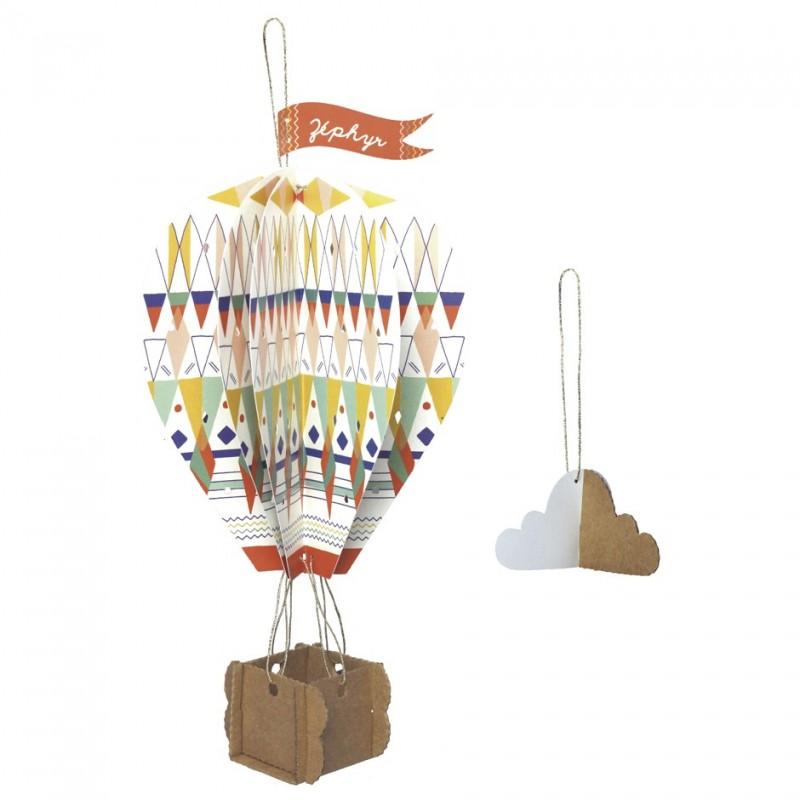 children mobiles hot-air balloons cardboard