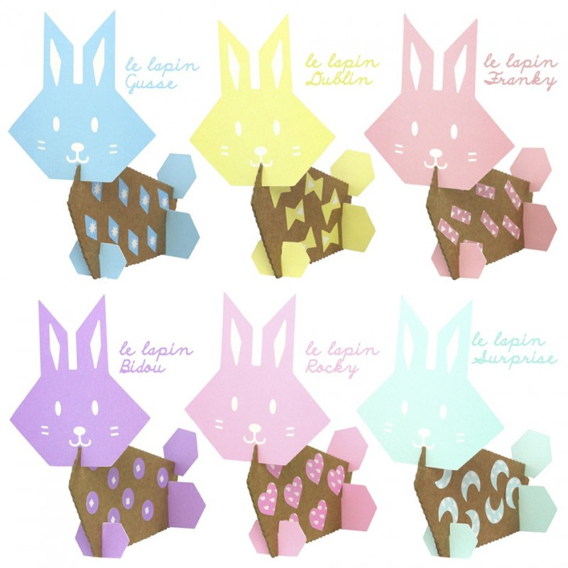 pastel rabbits stickers