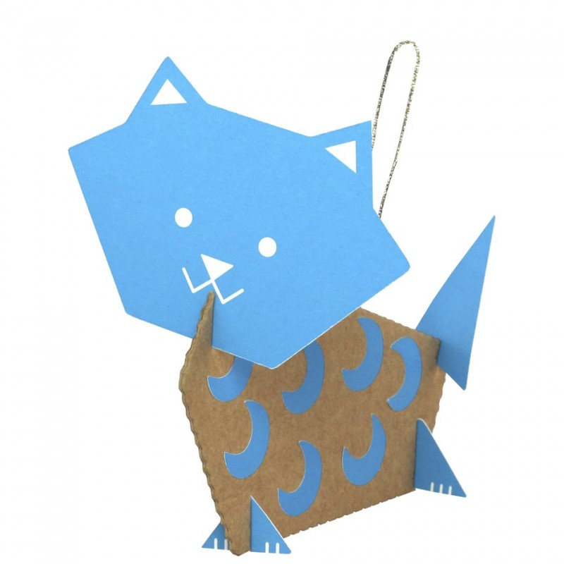 chats carton recyclé