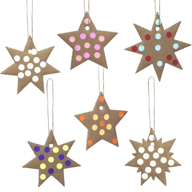 garland of cardboard stars