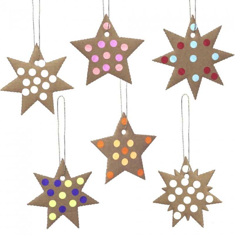 guirlande d'étoiles en carton