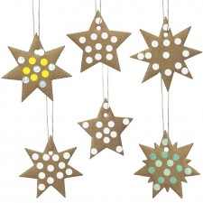 recycled cardboard stars