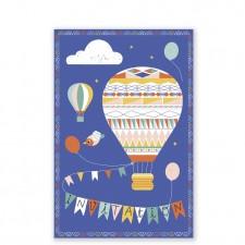 carte invitation montgolfière