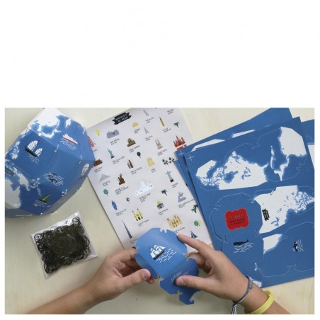 atelier créatif globe stickers