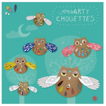 Kit créatif arty Chouettes