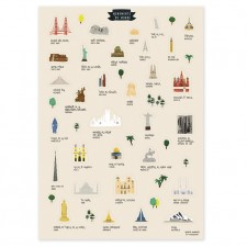 Stickers monuments of the world