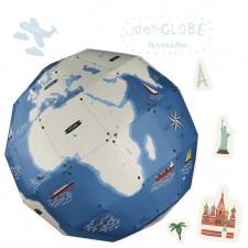 Creative workshop paper globe