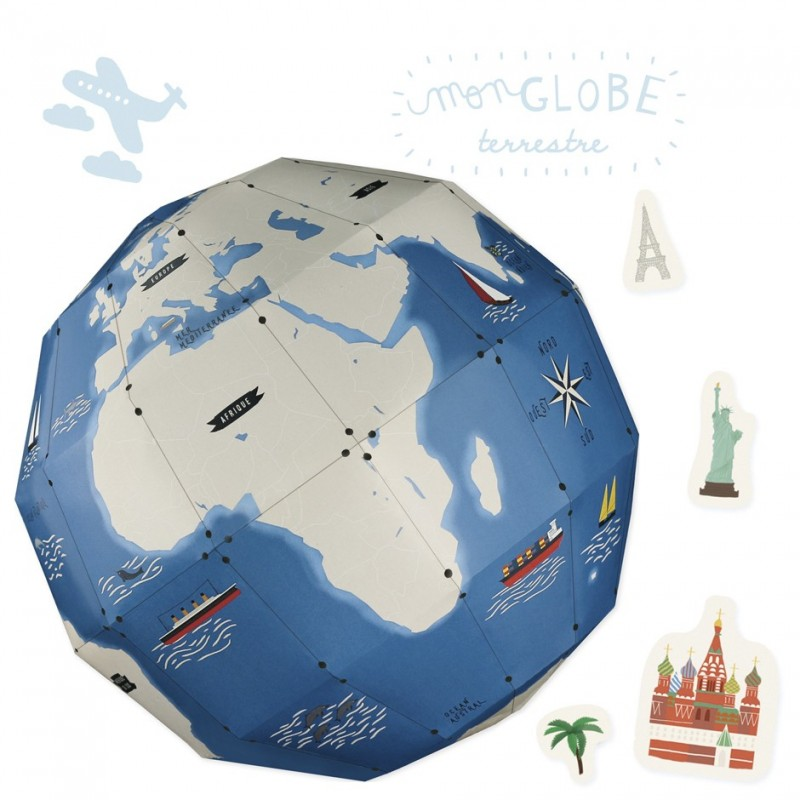 Creative workshop paper globe