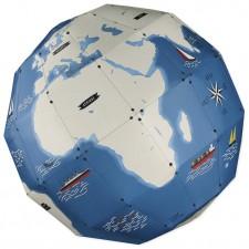 globe terrestre en papier recyclé