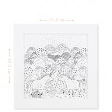 tableau coloriage licornes