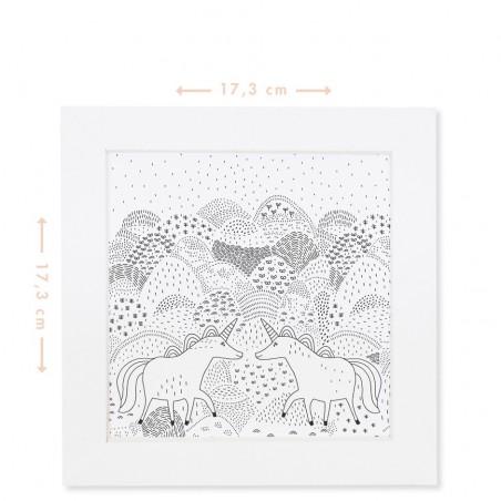 colouring unicorn frames