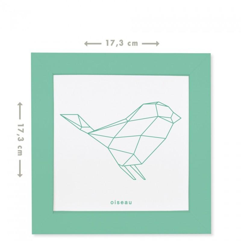 origami bird frame for colouring