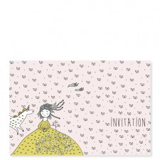 carte d'invitation licorne