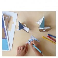 atelier créatif bateaux voiles