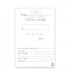 cartes d'invitation oiseaux