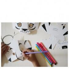 creative workshop tiger, parrot masks