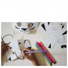 atelier créatif masques tigre et perroquet