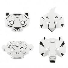 masques jungle papier