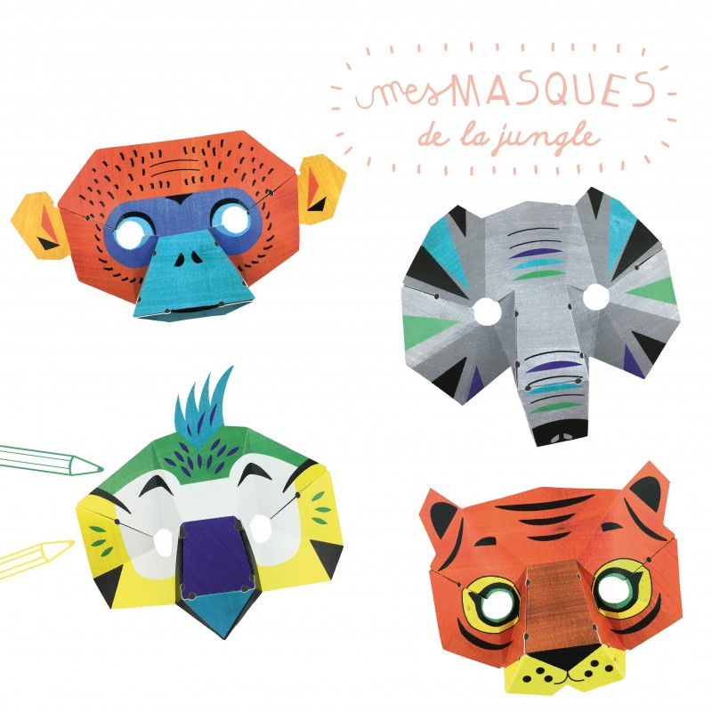 atelier papier masques de la jungle